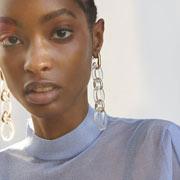 Bijou pour femme transparent en PVC
