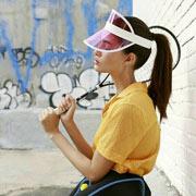 Casquette visière de tennis transparente plastique