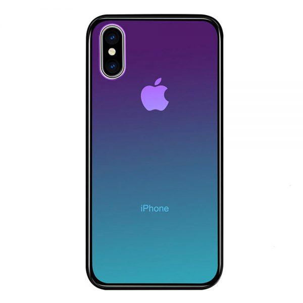 Coque d'Iphone en verre trempé effet dégradé