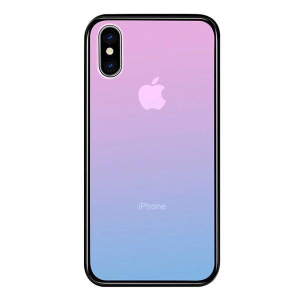 Coque iPhone dégradé rose